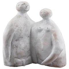 Rare Ceramic Sculpture of a couple by the Cloutier brothers