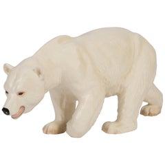 Rare Ceramic White Polar Bear Decorative Sculpture, Germany, 1960s