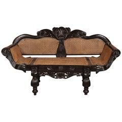 Rare Ceylonese Ebony Window Seat