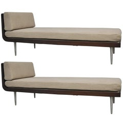 Rare Chaise Longue Pair by Edward Wormley for Dunbar