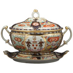 Rare Chamberlain's Worcester Covered Tureen on Stand, circa 1820