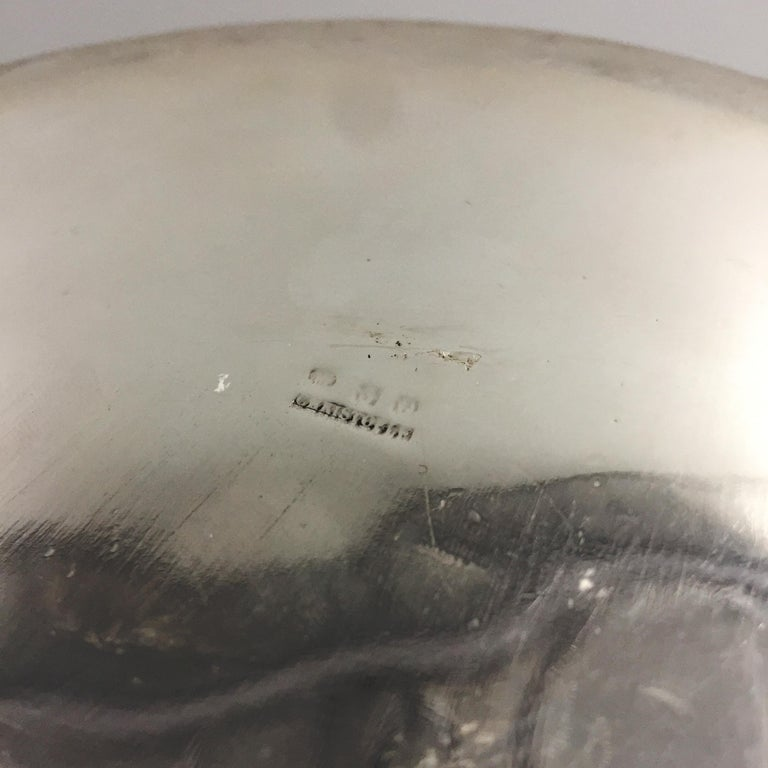 Plated Rare Champagne Bucket Luc Lanel design for Normandy Ship, circa 1932 Christofle For Sale
