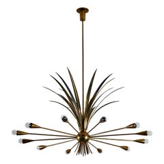 Rare Chandelier by Angelo Lelli for Arredoluce
