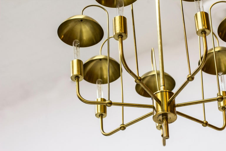 Rare Chandelier by Hans-Agne Jakobsson, Sweden, 1960s In Good Condition For Sale In Stockholm, SE