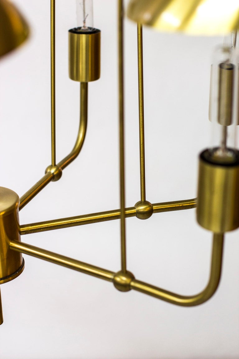 Mid-20th Century Rare Chandelier by Hans-Agne Jakobsson, Sweden, 1960s For Sale