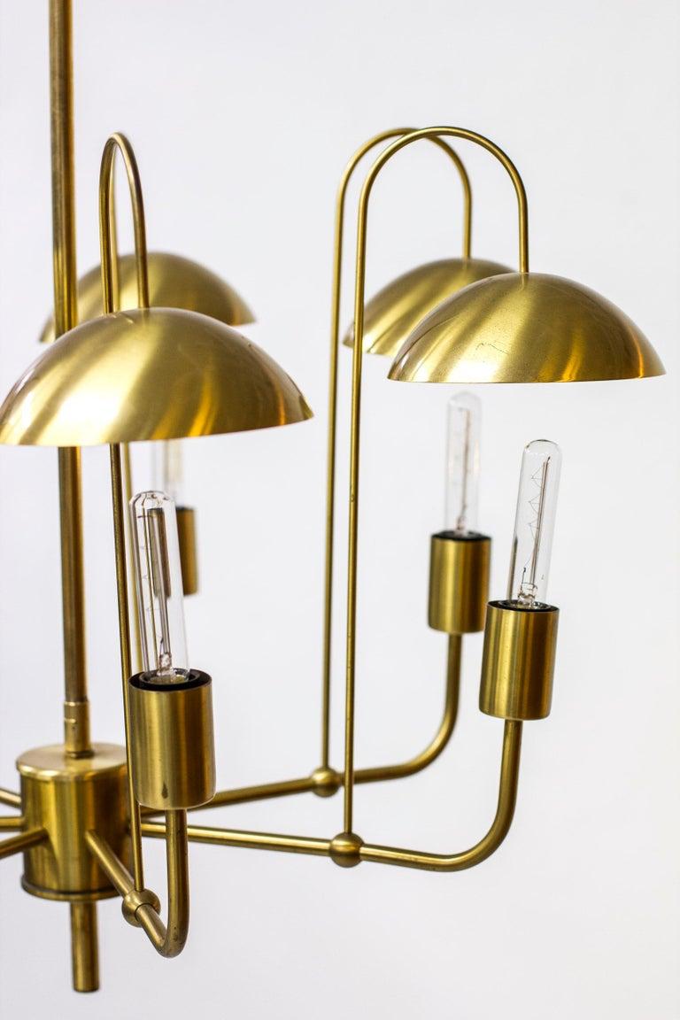 Brass Rare Chandelier by Hans-Agne Jakobsson, Sweden, 1960s For Sale