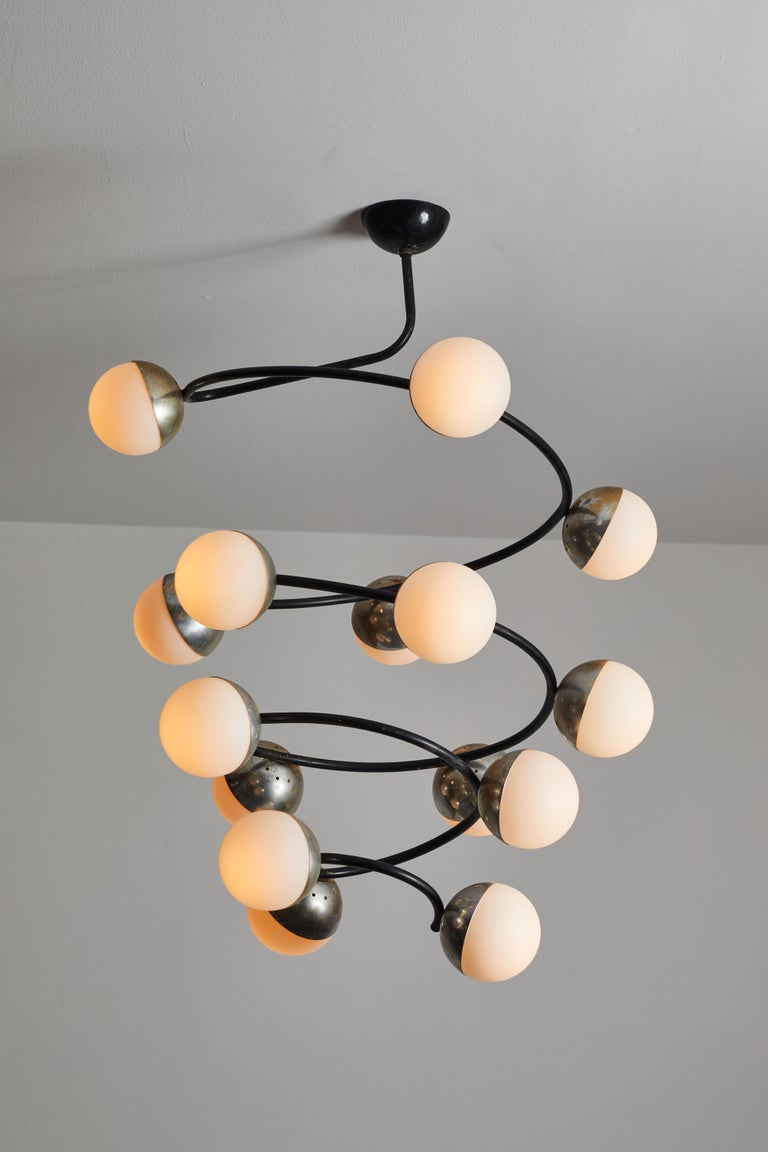 Rare Chandelier by Stilnovo In Good Condition For Sale In Los Angeles, CA