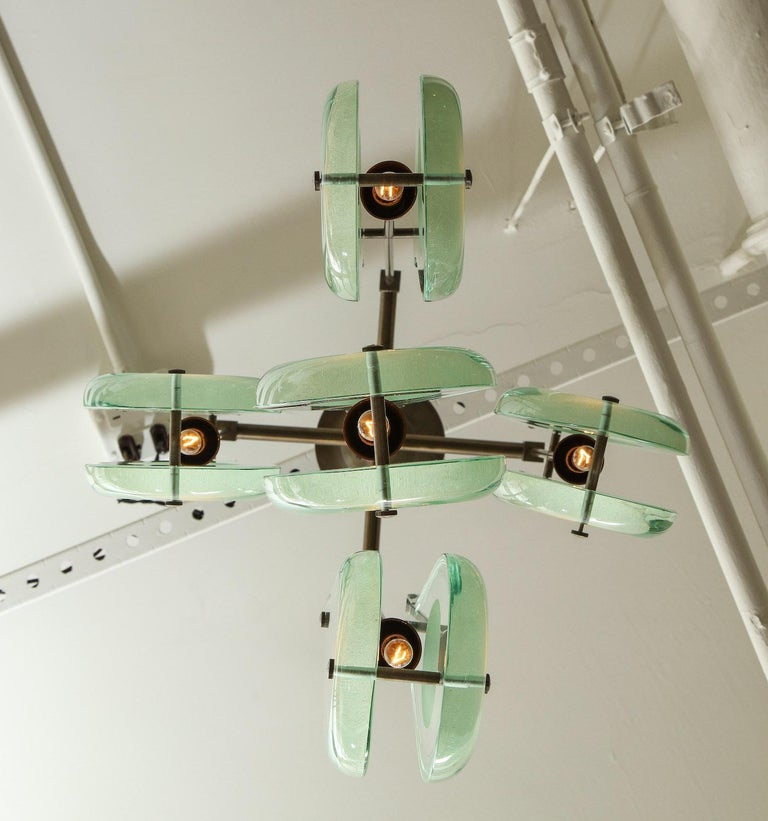 Rare Chandelier, Model #2338, by Max Ingrand for Fontana Arte In Good Condition For Sale In New York, NY
