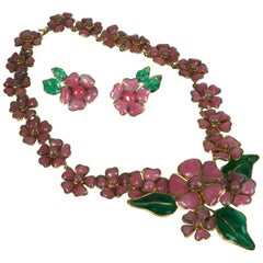 Rare Chanel 1938 Revival Flower Parure