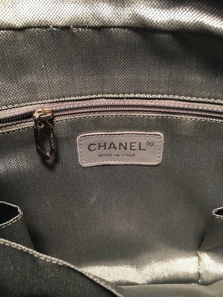 Chanel Mademoiselle Ligne Vertical Quilted Black Leather Camera Bag For Sale 3