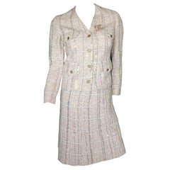Rare Chanel Fantasy Tweed and Sequins Jacket Skirt Suit Ensemble