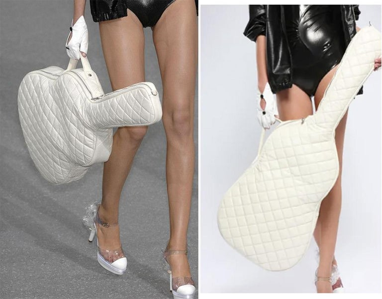 RARE Chanel Guitar Case Runway Piece For Sale 15