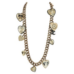 Rare Chanel Oversize Heart Necklace Belt