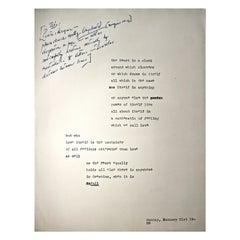 Rare Charles Olson Broadside 'Poster Poem' of Black Mountain College Interest
