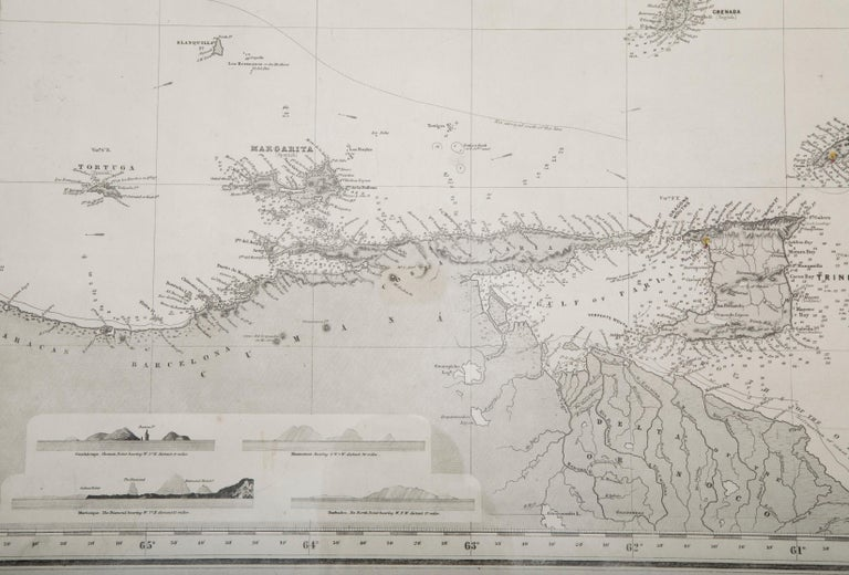 Rare Chart of the Caribbean Islands Published by James Imray & Son, London, 1866 For Sale 1