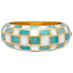 Rare Checkerboard Bangle by Angela Cummings for Tiffany & Co.