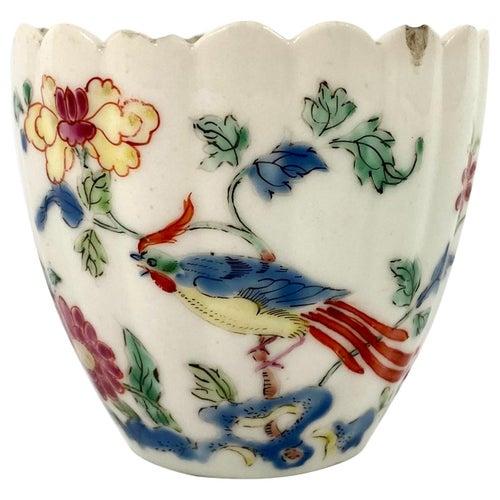 Rare Chelsea Porcelain Famille Rose 'Ho Ho Bird' Beaker, circa 1750