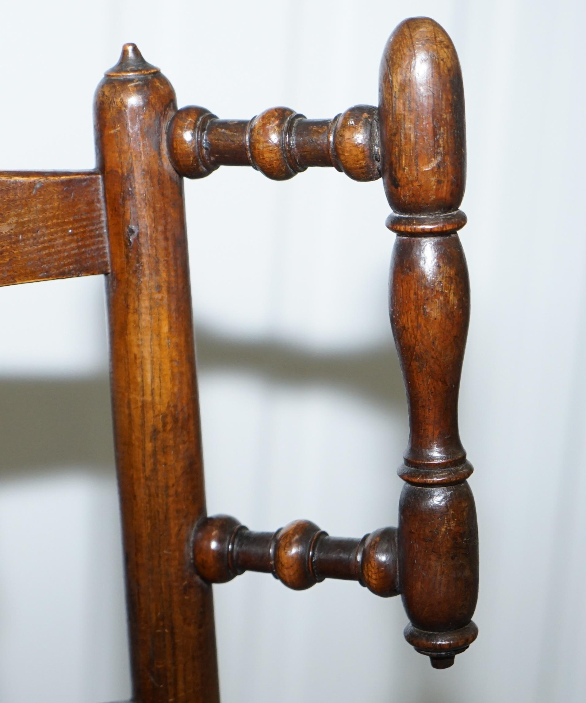 Stupendous Rare Childrens Small Antique Rope Seat Georgian Rocking Chair Solid Elm Display Machost Co Dining Chair Design Ideas Machostcouk