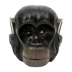 Rare Chimp Monkey Rotating Eye Clock Oswald Era