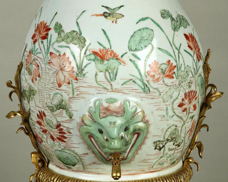 Chinoiserie Rare Chinese Porcelain Mural Fountain Attributed to L'Escalier de Cristal For Sale