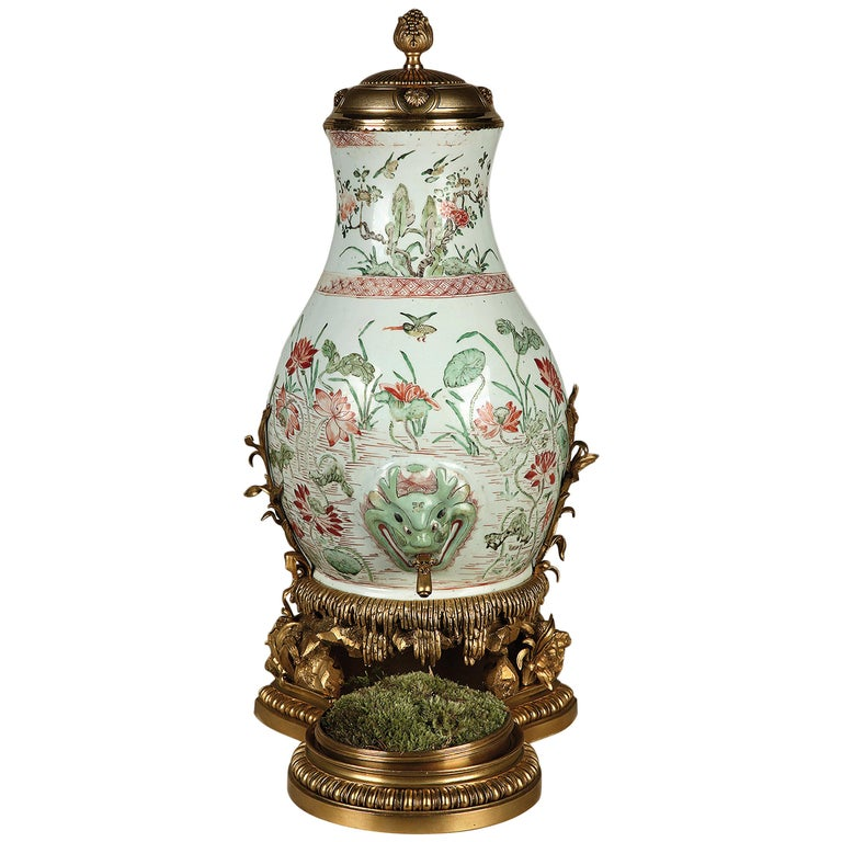 Rare Chinese Porcelain Mural Fountain Attributed to L'Escalier de Cristal For Sale