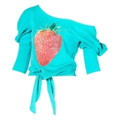 Rare Chloe by Stella McCartney Strawberry Decal Shirt Top Ca. 2001