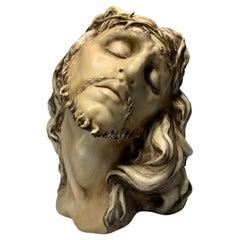 Rare Christ Porcelain Bust