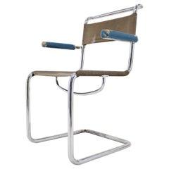 Rare Chrome Bauhaus Chair by Rudolf Vichr, 1930s