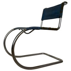 Rare Chrome Bauhaus Chair Thonet MR 10 by Ludwig Mies van der Rohe, 1930s