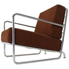 Rare Chrome Bauhaus / Functionalism Armchair, 1930s
