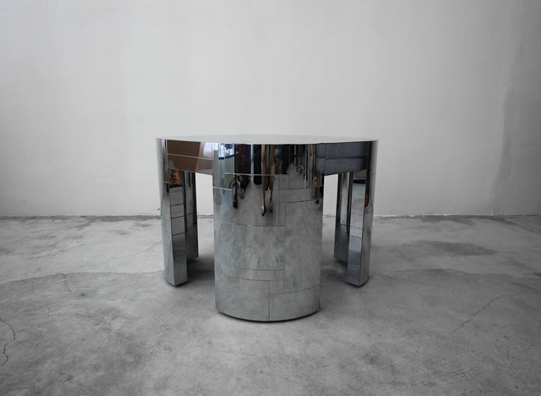 Rare Chrome Patchwork Cityscape Table by Paul Evans In Excellent Condition For Sale In Las Vegas, NV