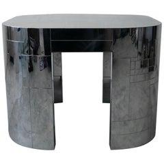 Rare Chrome Patchwork Cityscape Table by Paul Evans