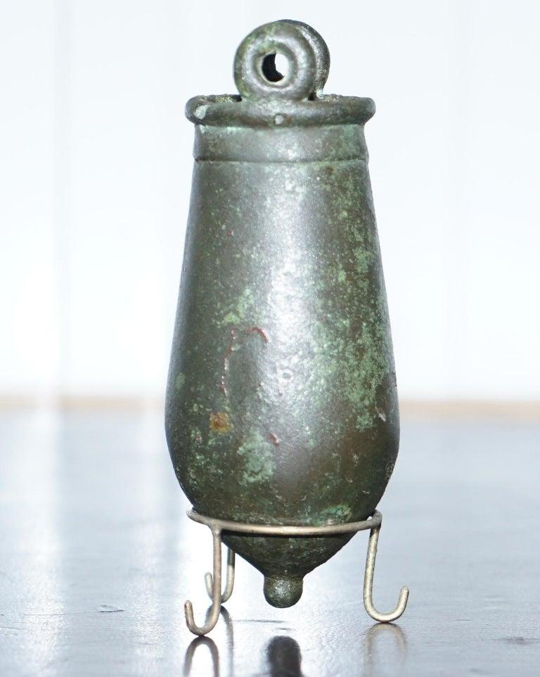 Rare circa 100AC Ancient 1st Century Roman Bronze Amphora Jug Vessel on Stand For Sale 3