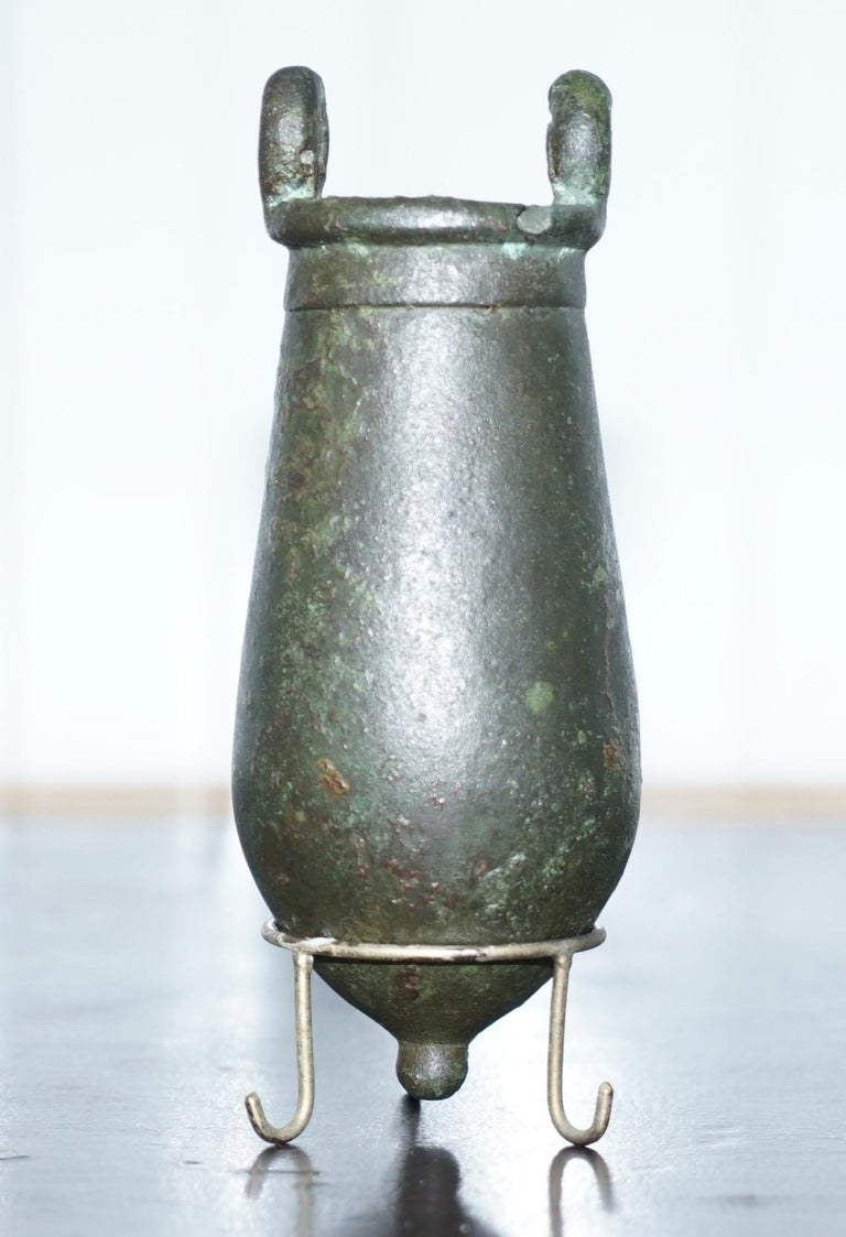 Wimbledon-Furniture  Wimbledon-Furniture is delighted to offer for sale this very rare 1st century 100ac Roman Amphora Bronze vessel  There are multiple high definition super-sized pictures at the bottom of this page  An exquisite and