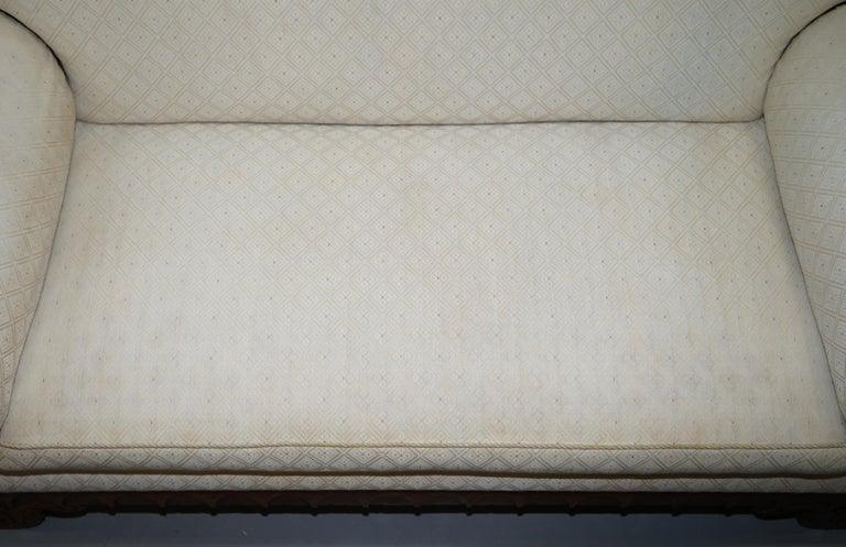 Rare circa 1780 Metamorphic Gothic Style Sofa Converts into Window Seat Chaise For Sale 3