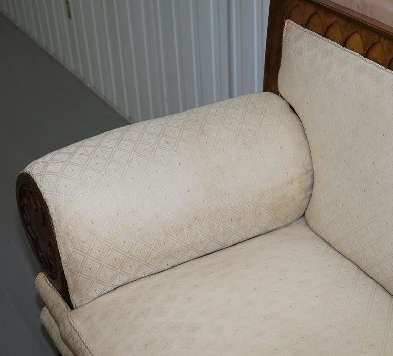 Rare circa 1780 Metamorphic Gothic Style Sofa Converts into Window Seat Chaise For Sale 4