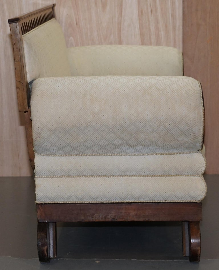Rare circa 1780 Metamorphic Gothic Style Sofa Converts into Window Seat Chaise For Sale 5