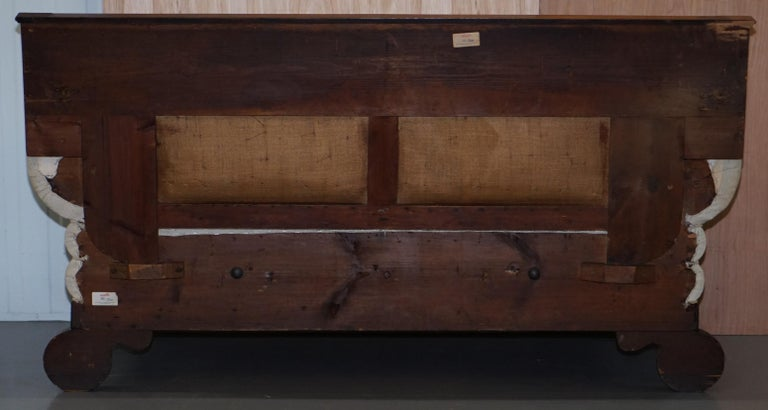 Rare circa 1780 Metamorphic Gothic Style Sofa Converts into Window Seat Chaise For Sale 6