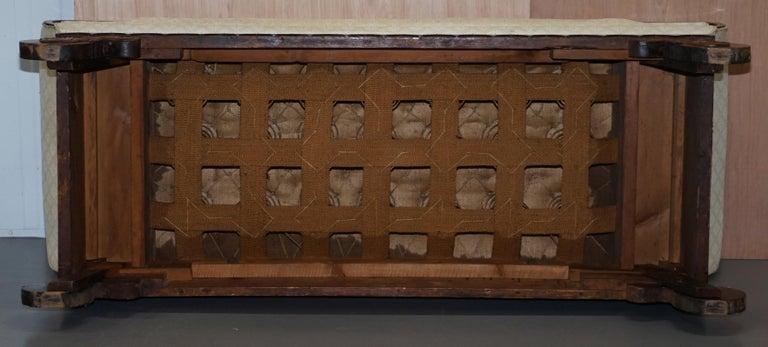 Rare circa 1780 Metamorphic Gothic Style Sofa Converts into Window Seat Chaise For Sale 11
