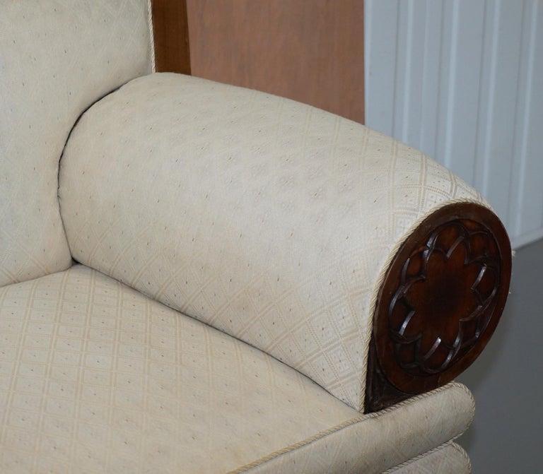 English Rare circa 1780 Metamorphic Gothic Style Sofa Converts into Window Seat Chaise For Sale