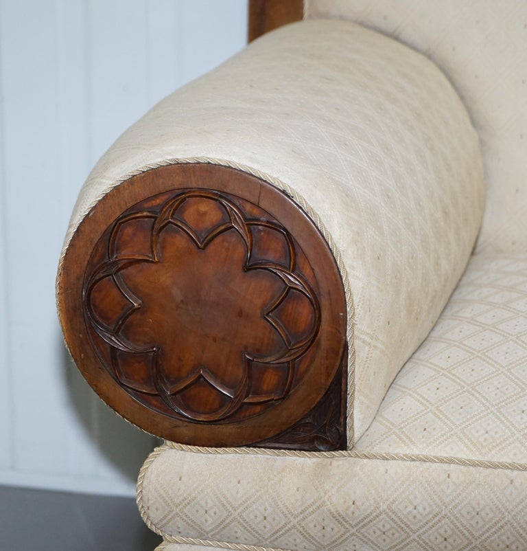Late 18th Century Rare circa 1780 Metamorphic Gothic Style Sofa Converts into Window Seat Chaise For Sale