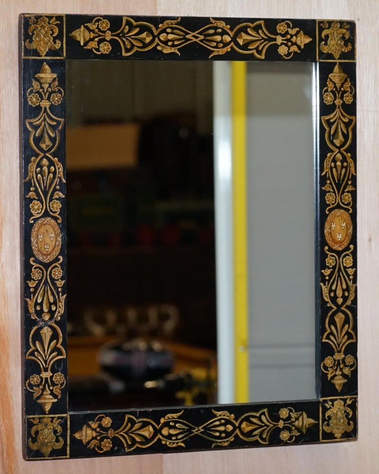 We are delighted to offer for sale this stunning circa 1840s hand painted Victorian mirror  A very good looking and well made mirror, it has a very Regency look and feel but I think its early Victorian   This is a good decorative piece, the size