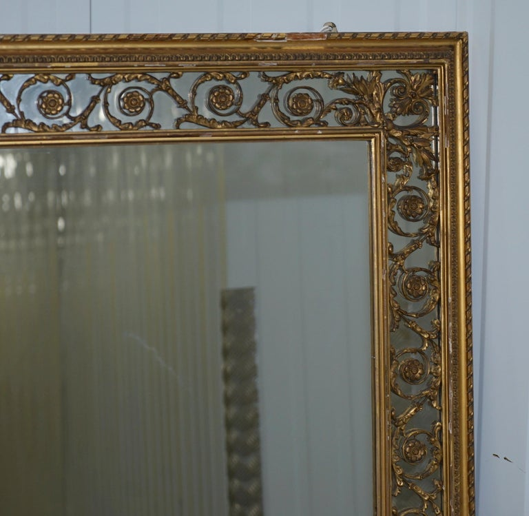 We are delighted to offer for sale this lovely early Victorian circa 1860 Charles Nosotti over mantle mirror with original mercury plate glass  A large and substantial Victorian gilt framed over mantel mirror made by Charles Nosotti, circa 1860,