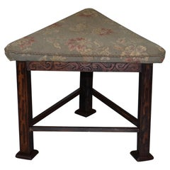 Rare circa 1860 Victorian Triangle Hunting Stool from Buckeburg Castle, Germany