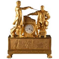 Rare Clock of François Feuchere, Sans Peur et Sans Reproche, France, '1737-1823'