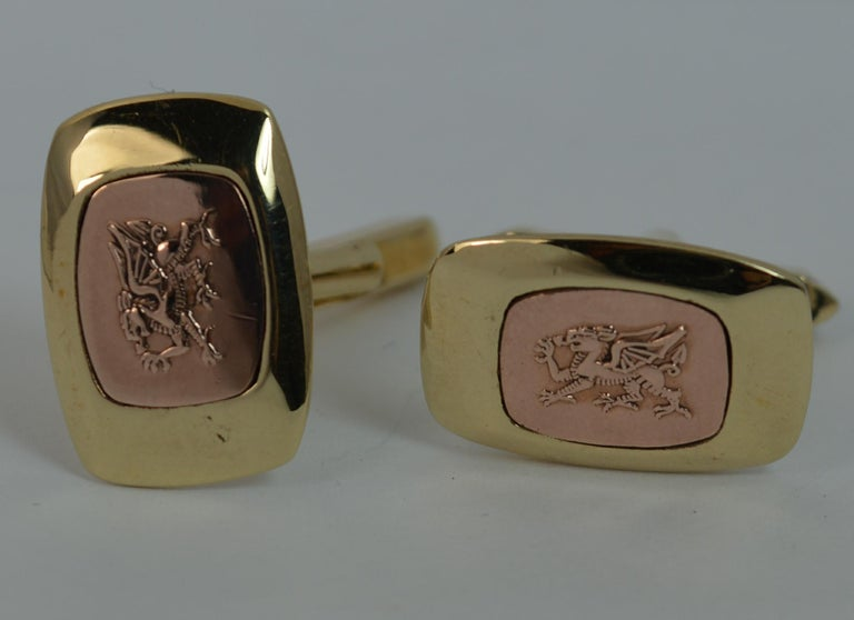Rare Clogau Solid 9 Carat Gold Pair Of Men S Cufflinks