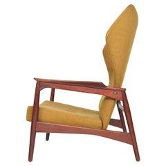 Rare Cloud Master Reclining Highback Lounge Chair in Teak by Ib Kofod Larsen