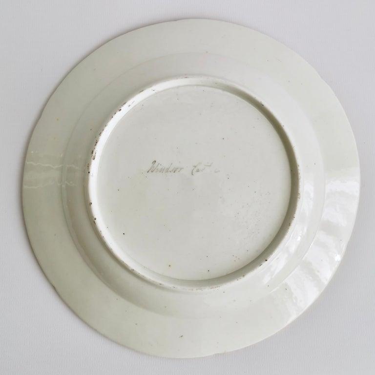 Coalport Porcelain Plate, Landscape in Sepia, by Thomas Baxter, Georgian ca 1805 For Sale 4