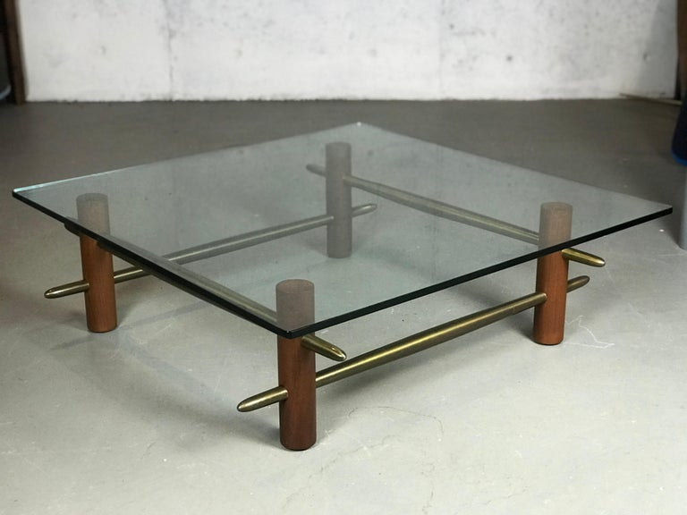 American Rare Coffee Table by T.H. Robsjohn-Gibbings for Widdicomb Furniture For Sale