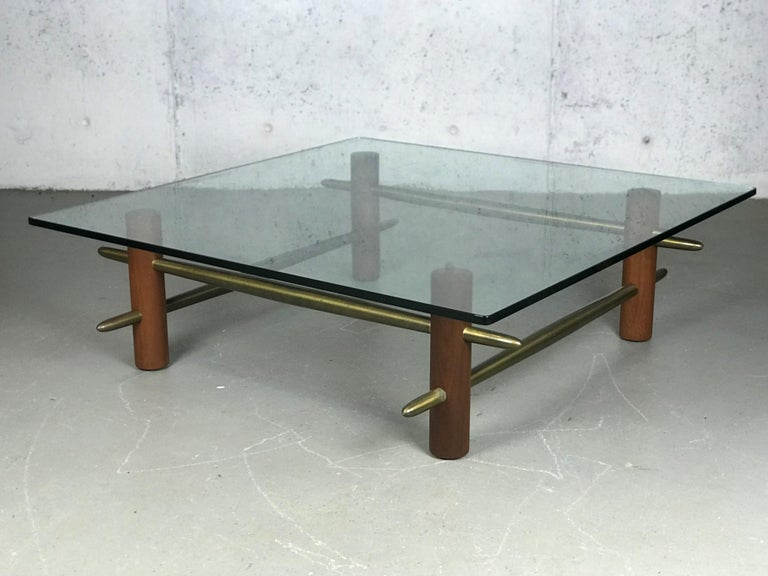 Brass Rare Coffee Table by T.H. Robsjohn-Gibbings for Widdicomb Furniture For Sale